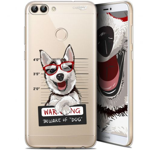 "Coque Gel Huawei P Smart (5.7"") Extra Fine Motif -  Beware The Husky Dog"