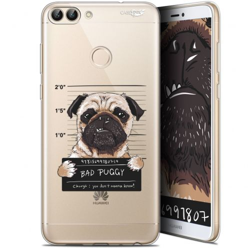 "Coque Gel Huawei P Smart (5.7"") Extra Fine Motif -  Beware The Puggy Dog"