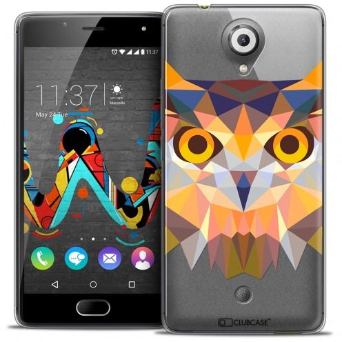 Coque Crystal Gel Wiko U Feel Extra Fine Polygon Animals - Hibou