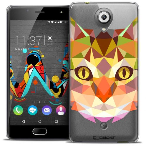 Coque Crystal Gel Wiko U Feel Extra Fine Polygon Animals - Chat