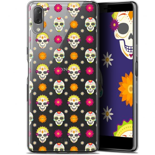 "Coque Gel Sony Xperia L3 (5.7"") Extra Fine Halloween - Skull Halloween"