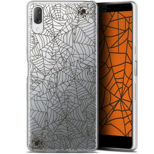 "Coque Gel Sony Xperia L3 (5.7"") Extra Fine Halloween - Spooky Spider"