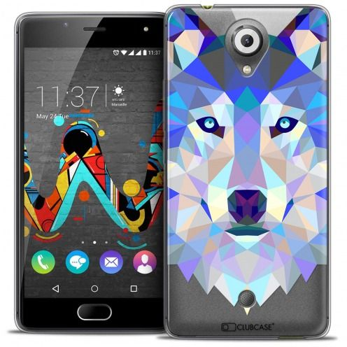 Coque Crystal Gel Wiko U Feel Extra Fine Polygon Animals - Loup