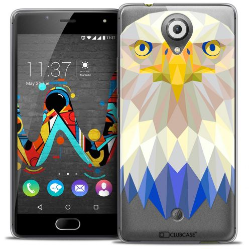 Coque Crystal Gel Wiko U Feel Extra Fine Polygon Animals - Aigle
