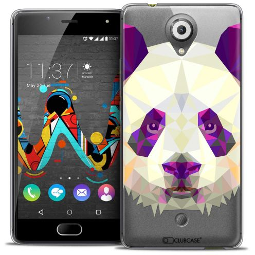 Coque Crystal Gel Wiko U Feel Extra Fine Polygon Animals - Panda