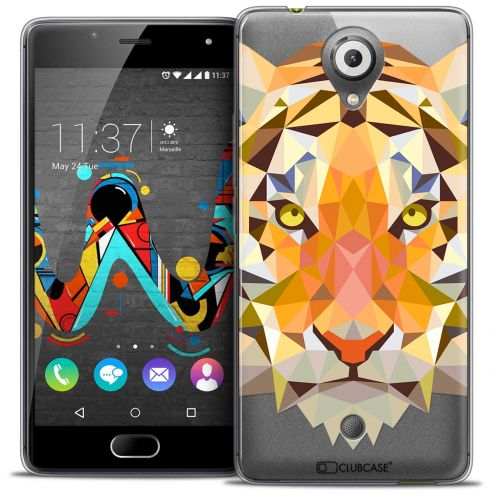 Coque Crystal Gel Wiko U Feel Extra Fine Polygon Animals - Tigre