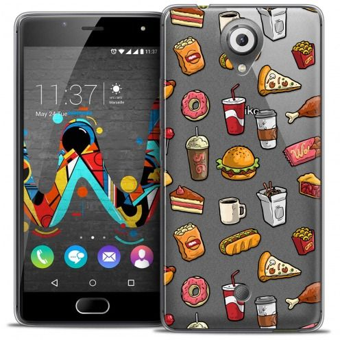 Coque Crystal Gel Wiko U Feel Extra Fine Foodie - Fast Food