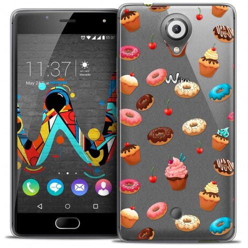 Coque Crystal Gel Wiko U Feel Extra Fine Foodie - Donuts