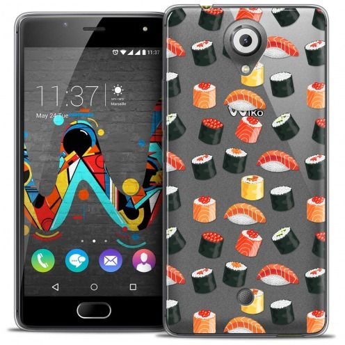 Coque Crystal Gel Wiko U Feel Extra Fine Foodie - Sushi