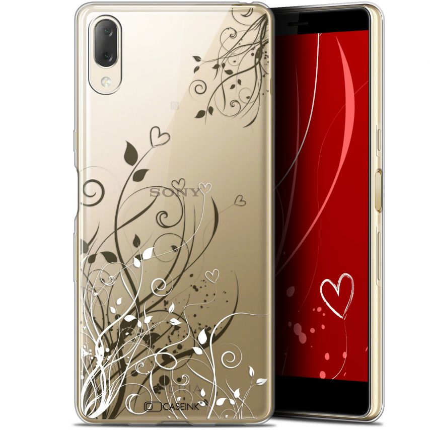 """Coque Gel Sony Xperia L3 (5.7"""") Extra Fine Love - Hearts Flowers"""