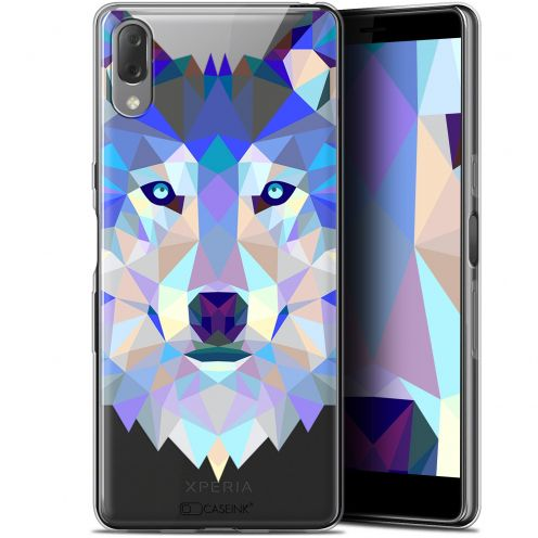 "Coque Gel Sony Xperia L3 (5.7"") Extra Fine Polygon Animals - Loup"