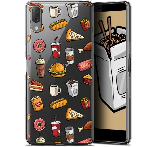 "Coque Gel Sony Xperia L3 (5.7"") Extra Fine Foodie - Fast Food"