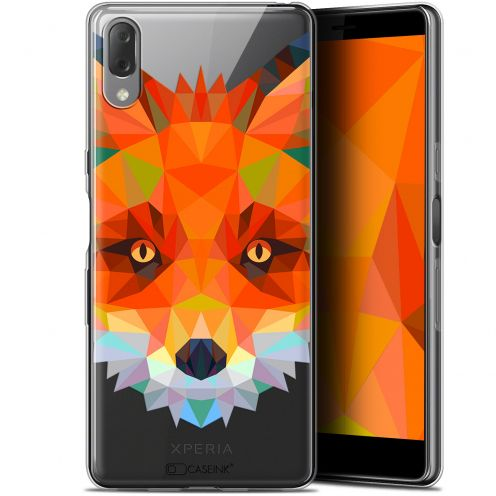 "Coque Gel Sony Xperia L3 (5.7"") Extra Fine Polygon Animals - Renard"