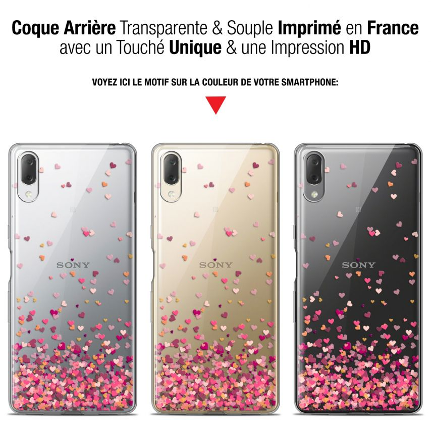 "Coque Gel Sony Xperia L3 (5.7"") Extra Fine Sweetie - Heart Flakes"