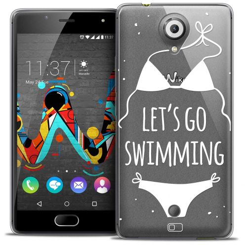 Coque Crystal Gel Wiko U Feel Extra Fine Summer - Let's Go Swim