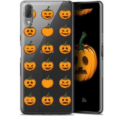 "Coque Gel Sony Xperia L3 (5.7"") Extra Fine Halloween - Smiley Citrouille"