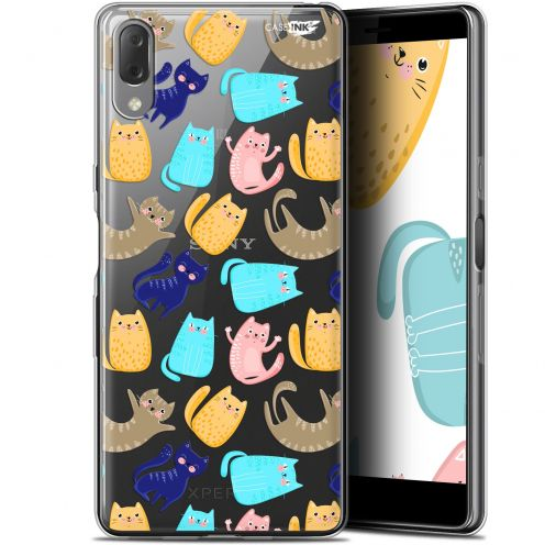 "Coque Gel Sony Xperia L3 (5.7"") Extra Fine Motif - Chat Danse"