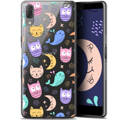 "Coque Gel Sony Xperia L3 (5.7"") Extra Fine Motif - Chat Hibou"