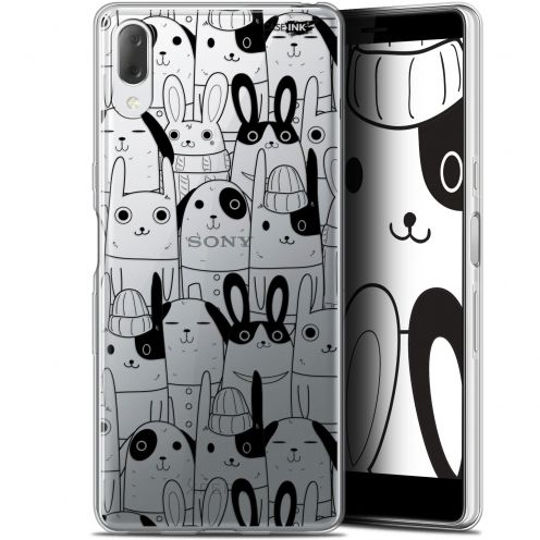 "Coque Gel Sony Xperia L3 (5.7"") Extra Fine Motif - Lapin Noir"