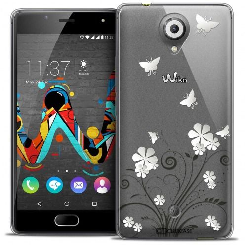 Coque Crystal Gel Wiko U Feel Extra Fine Summer - Papillons