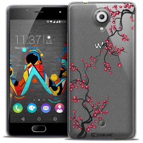 Coque Crystal Gel Wiko U Feel Extra Fine Summer - Sakura
