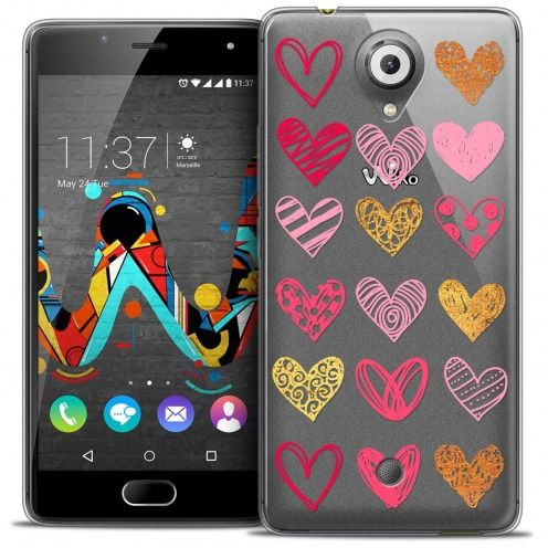 Coque Crystal Gel Wiko U Feel Extra Fine Sweetie - Doodling Hearts