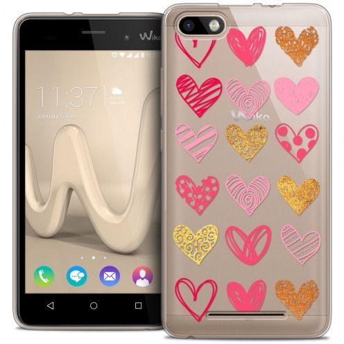 Coque Crystal Gel Wiko Lenny 3 Extra Fine Sweetie - Doodling Hearts