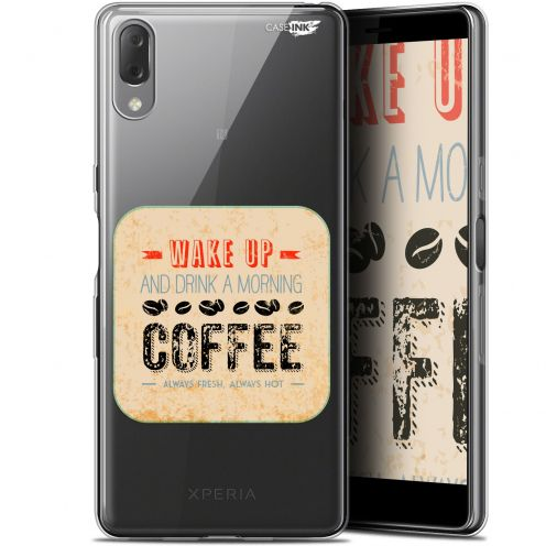 "Coque Gel Sony Xperia L3 (5.7"") Extra Fine Motif - Wake Up With Coffee"