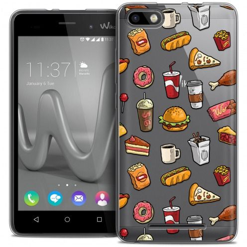 Coque Crystal Gel Wiko Lenny 3 Extra Fine Foodie - Fast Food
