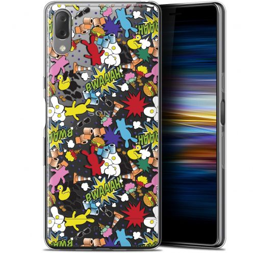 "Coque Gel Sony Xperia L3 (5.7"") Extra Fine Lapins Crétins™ - Bwaaah Pattern"
