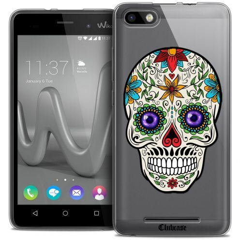 Coque Crystal Gel Wiko Lenny 3 Extra Fine Skull - Maria's Flower
