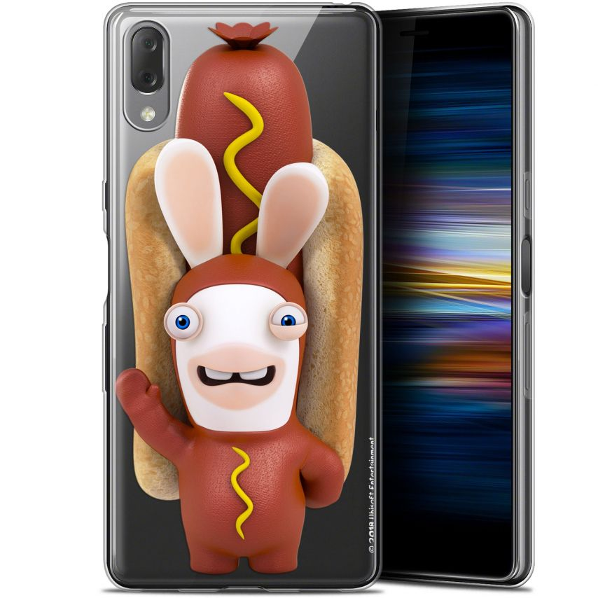"""Coque Gel Sony Xperia L3 (5.7"""") Extra Fine Lapins Crétins™ - Hot Dog Crétin"""
