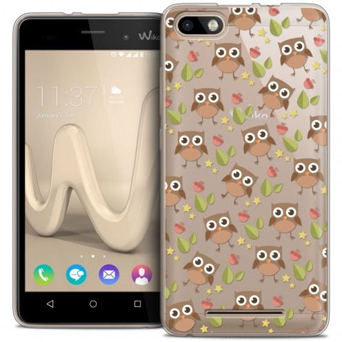 Coque Crystal Gel Wiko Lenny 3 Extra Fine Summer - Hibou
