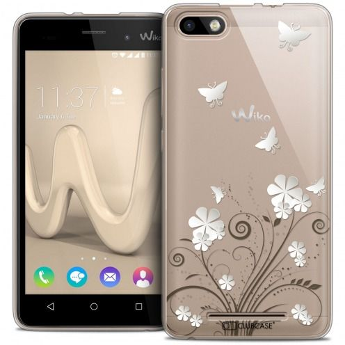 Coque Crystal Gel Wiko Lenny 3 Extra Fine Summer - Papillons