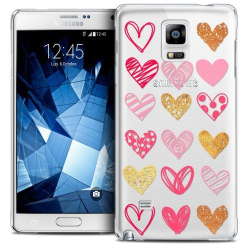 Coque Crystal Galaxy Note 4 Extra Fine Sweetie - Doodling Hearts