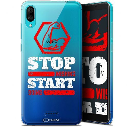"Coque Gel Wiko Y80 (6"") Extra Fine Quote - Start Doing"