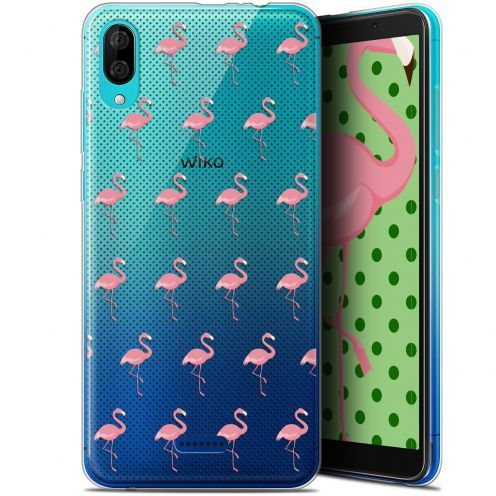"Coque Gel Wiko Y80 (6"") Extra Fine Pattern - Les flamants Roses Dots"