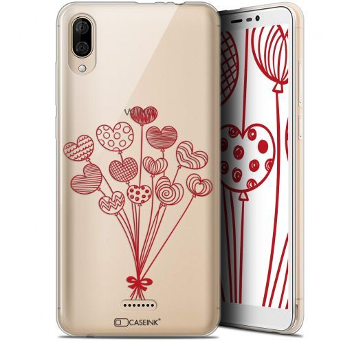 "Coque Gel Wiko Y80 (6"") Extra Fine Love - Ballons d'amour"