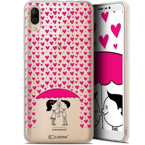 "Coque Gel Wiko Y80 (6"") Extra Fine Love - Pluie d'Amour"
