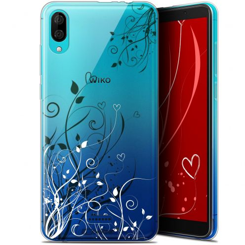 "Coque Gel Wiko Y80 (6"") Extra Fine Love - Hearts Flowers"