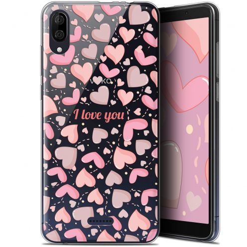 "Coque Gel Wiko Y80 (6"") Extra Fine Love - I Love You"