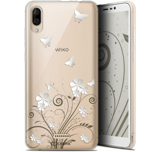 "Coque Gel Wiko Y80 (6"") Extra Fine Summer - Papillons"