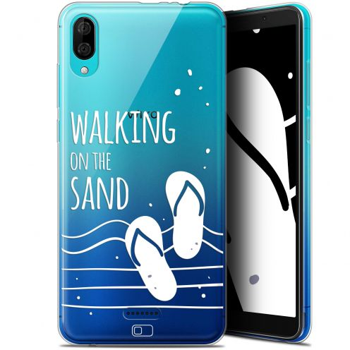 "Coque Gel Wiko Y80 (6"") Extra Fine Summer - Walking on the Sand"