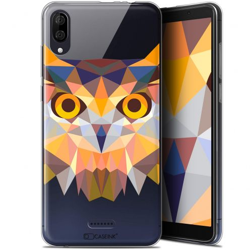 "Coque Gel Wiko Y80 (6"") Extra Fine Polygon Animals - Hibou"