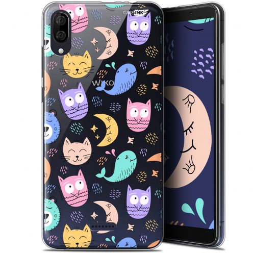 "Coque Gel Wiko Y80 (6"") Extra Fine Motif - Chat Hibou"