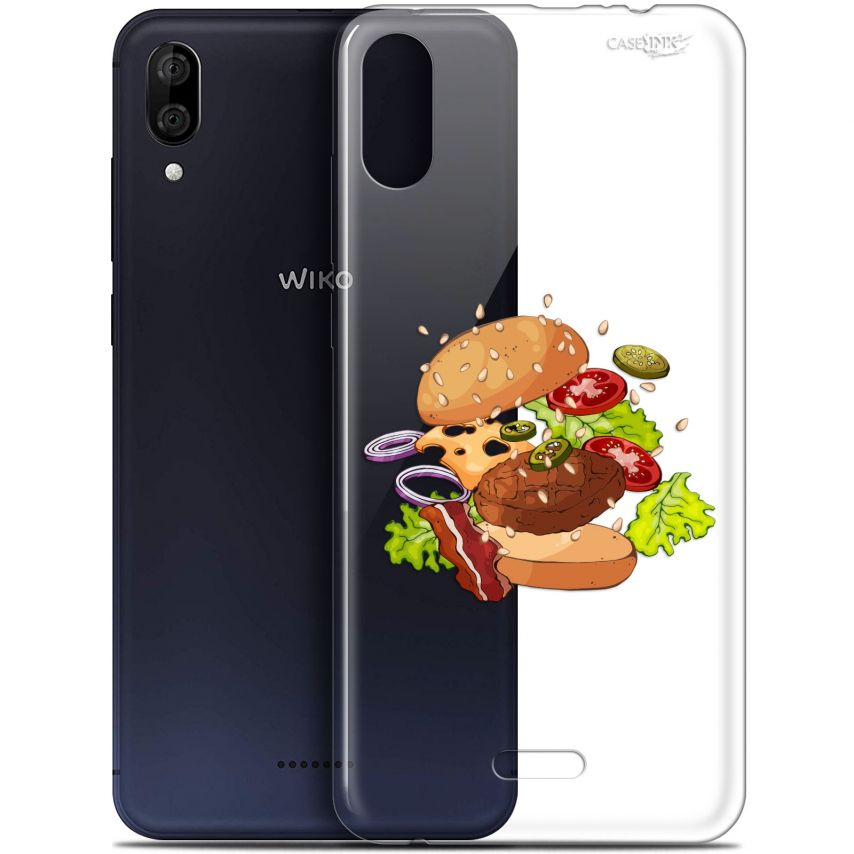 "Coque Gel Wiko Y80 (6"") Extra Fine Motif - Splash Burger"