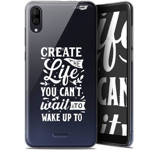 """Coque Gel Wiko Y80 (6"""") Extra Fine Motif -  Wake Up Your Life"""