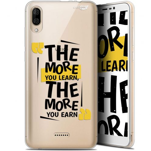 """Coque Gel Wiko Y80 (6"""") Extra Fine Motif -  The More You Learn"""