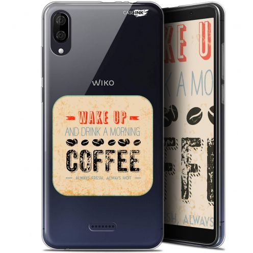 """Coque Gel Wiko Y80 (6"""") Extra Fine Motif -  Wake Up With Coffee"""