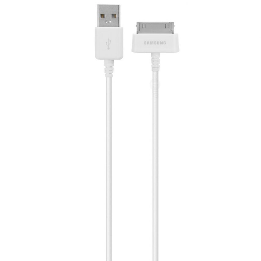 Câble Data USB 30 Pins Origine Samsung ECB-DP4AWE 1M Blanc Pour Galaxy Tab